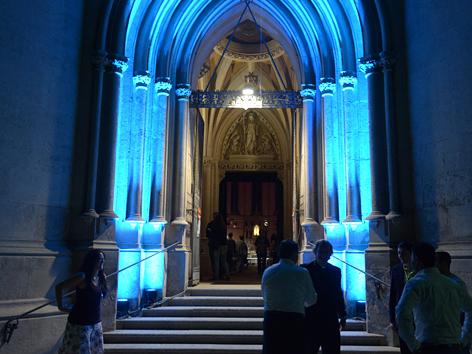 Kirchenportal zur Langen Nacht der Kirchen