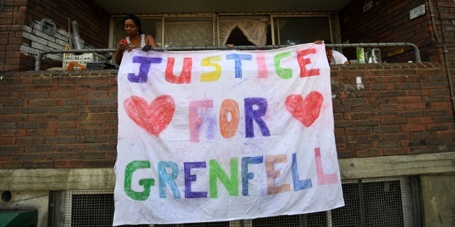 Plakat - Justice for Grenfell