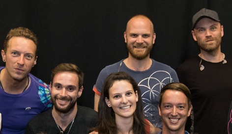 Die gewinner des Ö3-Meet and Greets mit Coldplay