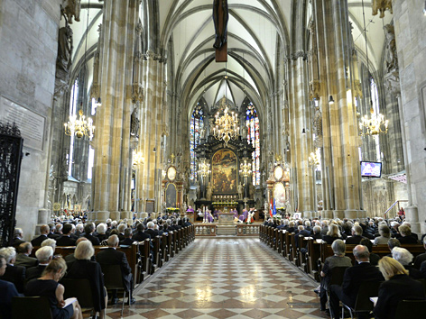 Trauerfeier für Alois Mock im Wiener Stephansdom