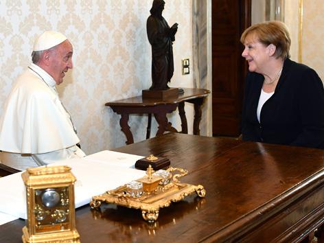 Angela Merkel bei Papst Franziskus