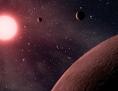 Künstlerische Darstellung: Exoplaneten mit Sonne