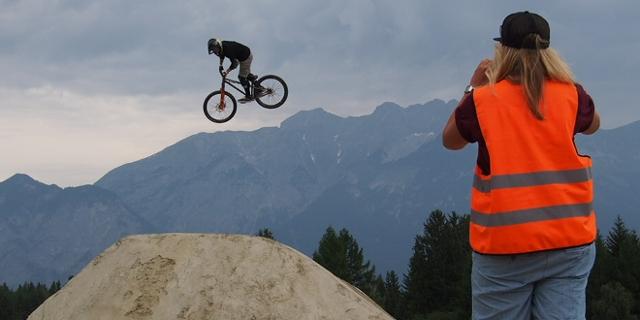 Mountainbiker beim Crankworx Festival
