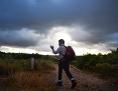 Pilger auf dem Weg nach Fatima