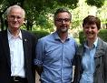 (V. l. n. r.): Generalvikar Roland Rasser mit Kommunikationschef Kurt Sonneck, Seelsorgeamtsleiterin Lucia Greiner und Erzbischof Franz Lackner