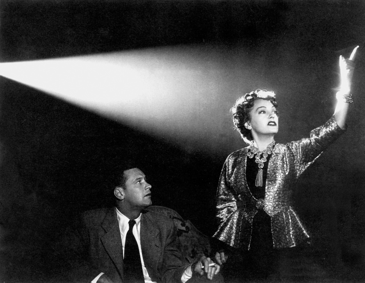 "Gloria Swanson und William Holden in ""Sunset Boulevard"""
