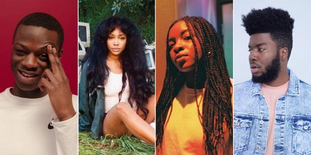 Vier Hip Hop und RnB Acts
