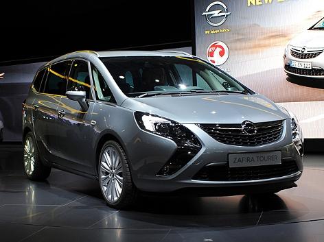 Der Opel Zafira bei der Präsentation auf der Frankfurter Automesse im September 2011