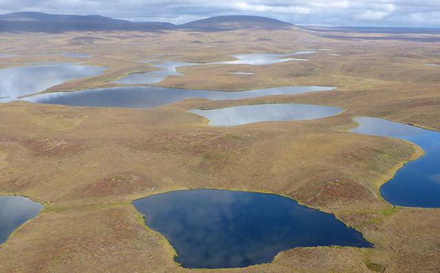 Hunderte Millionen Seen in Alaska, Kanada und Sibirien