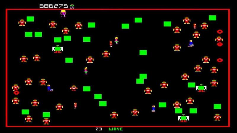 """Bildschirmfoto aus """"Robotron: 2084"""""""