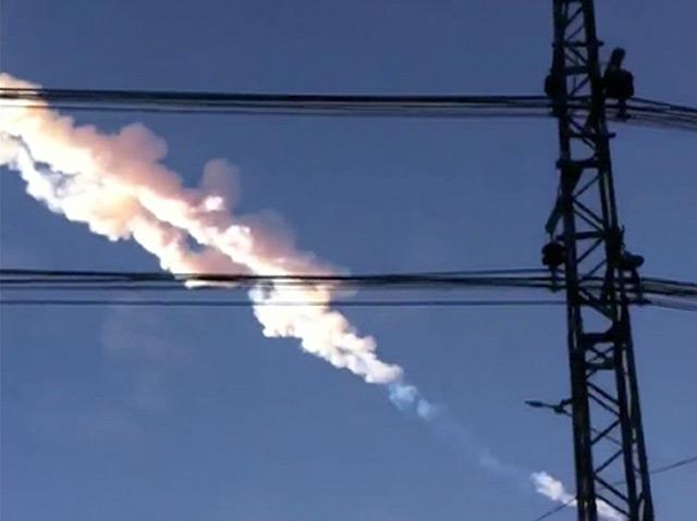 15. Februar 2013: der Meteorit über Tscheljabinsk