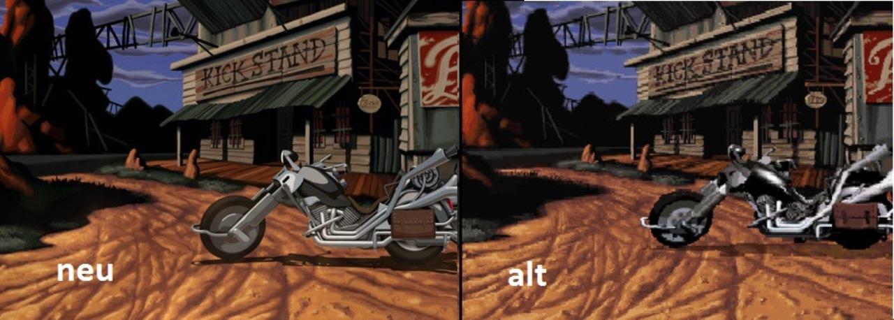screenshot Vergleich Full Throttle Remastered