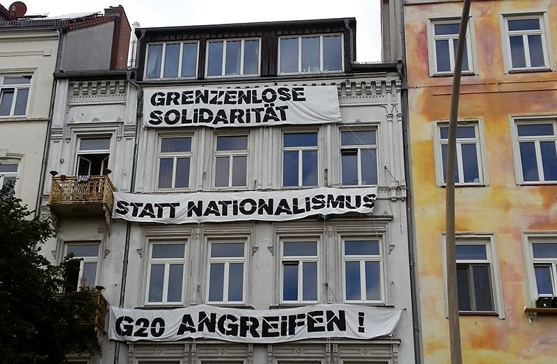 Transparent gege G20 auf einem Haus