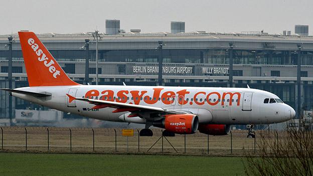 Ein Flugzeug der Fluglinie Easyjet