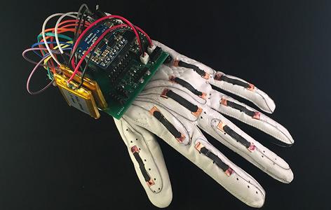Der Handschuh für die Gehörlosen