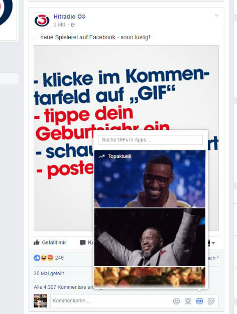 Screenshot GIF Kommentare