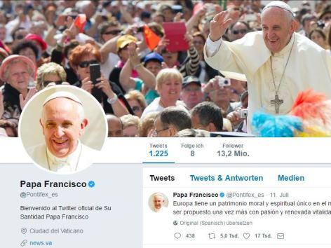 Papst auf Twitter