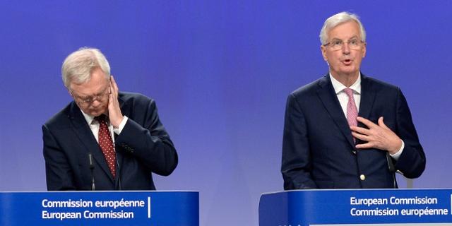 Brexit Verhandlungen mit Michel Barnier und David Davies
