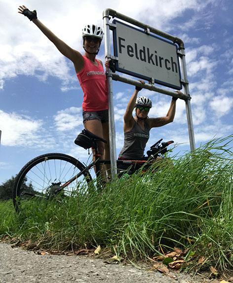 Sandra radelt Tag 1 Ankunft Feldkirch