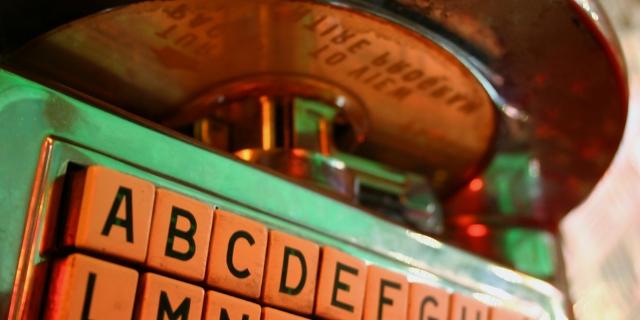 Eine alte Jukebox
