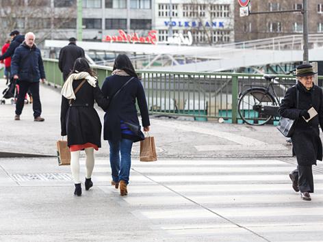 Straßenszene in Wien