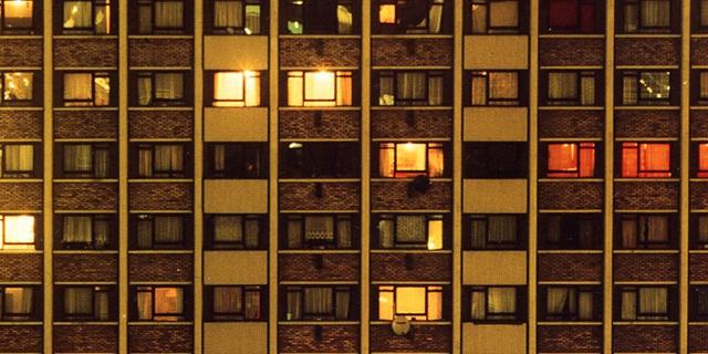 Hochhaus bei Nacht, Albumcover