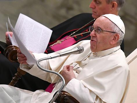 Papst Franziskus in einer Generalaudienz