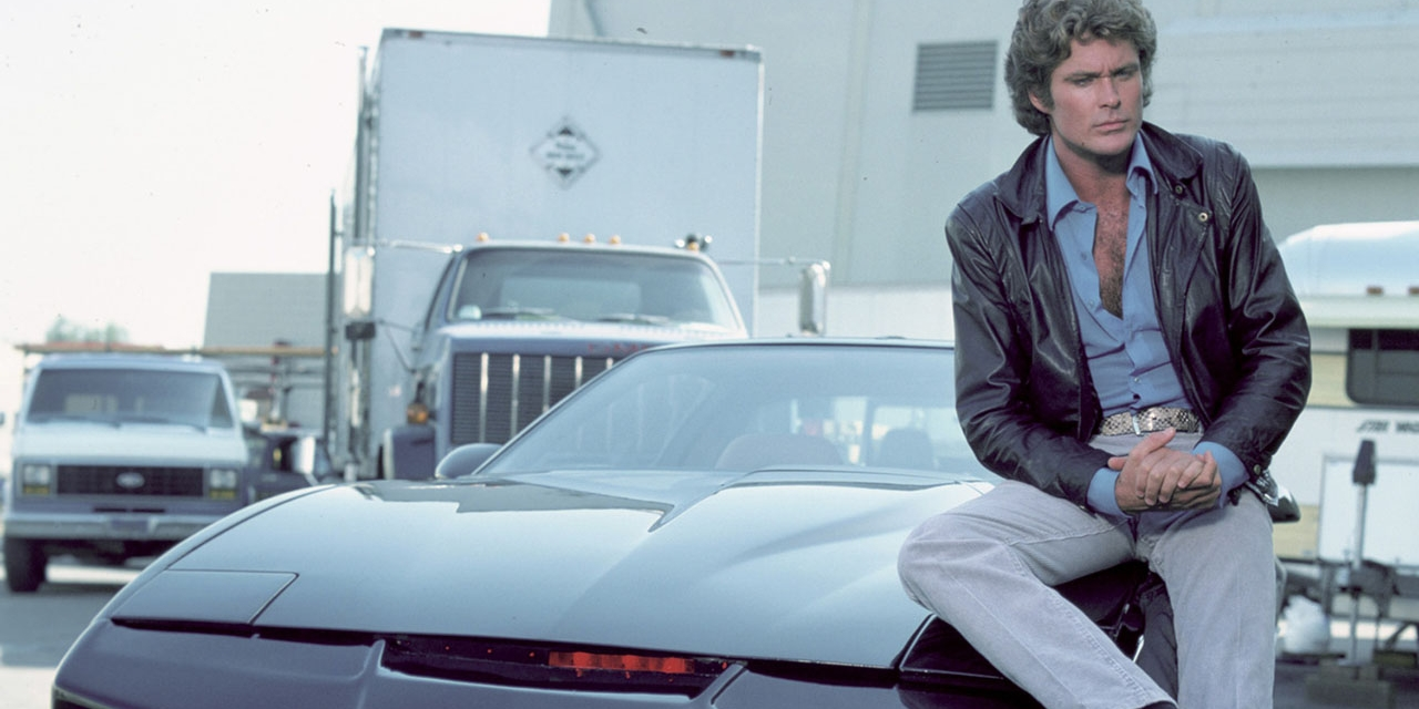 David Hasselhoff als Knight Rider in der Originalserie
