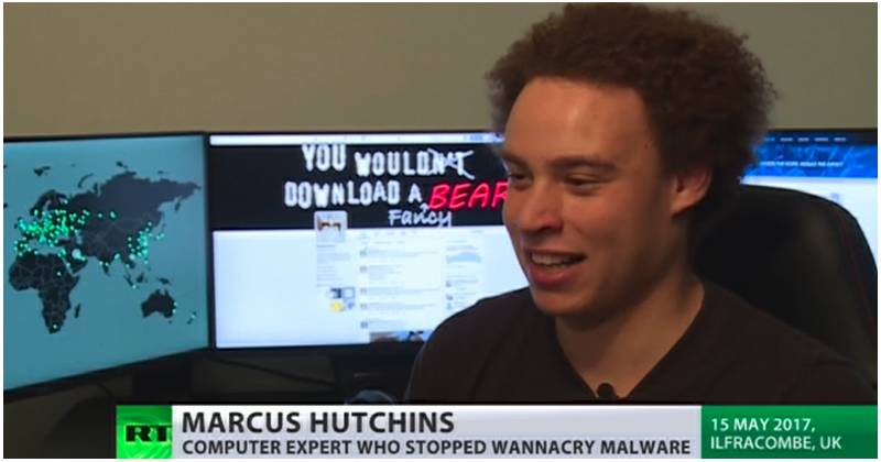 Marcus Hutchins in einem Interview mit dem TV-Sender RT