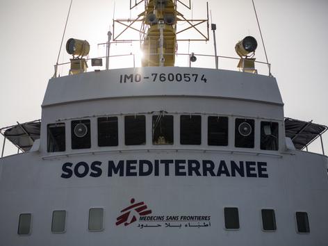 Hilfsschiff Aquarius von SOS Mediterranee