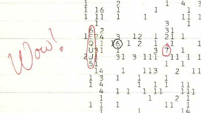 """Ausdruck einer Zahlenreihe - daneben eine Notiz: """"Wow!"""""""