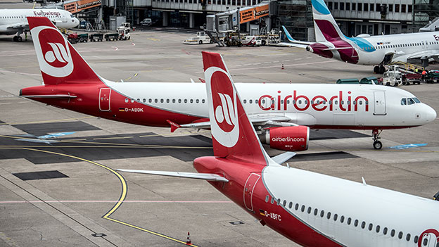 Air Berlin Flieger am Boden
