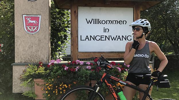 Sandra radelt Langenwang