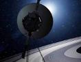 Voyager-Sonde vor Saturn