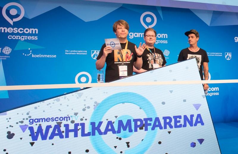 Moderatoren auf dem Gamescom Congress