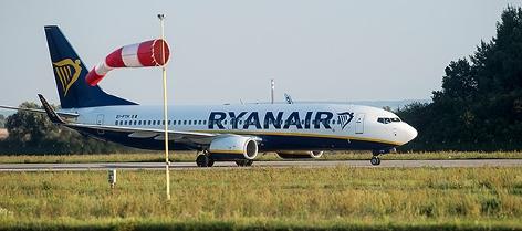 Ein Flugzeug der Ryanair