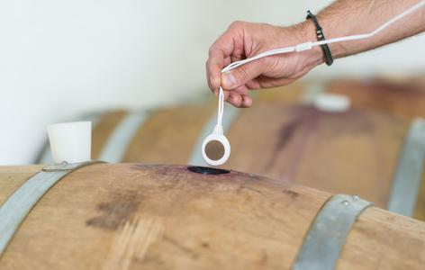 Beschallter Wein, Weinfass