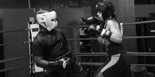Woman And Boxing