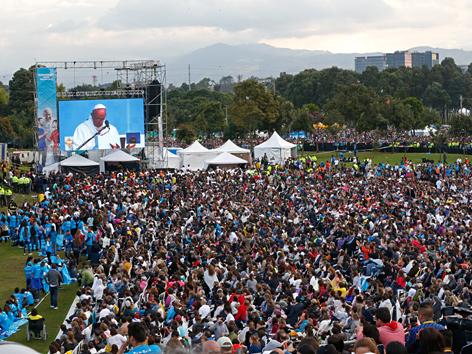 Papst-Gottesdienst in Bogota