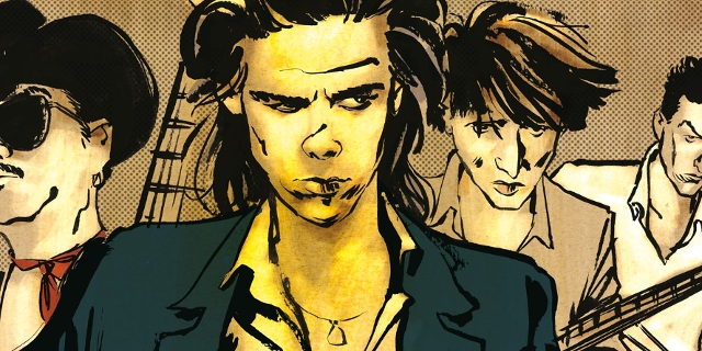 "Aus dem Comic ""Nick Cave, Merci On Me"""