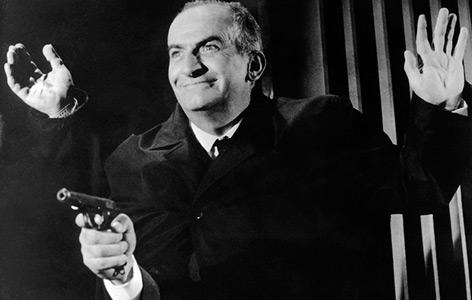 "Louis de Funes als Inspektor Juve in ""Fantomas"" 1965"