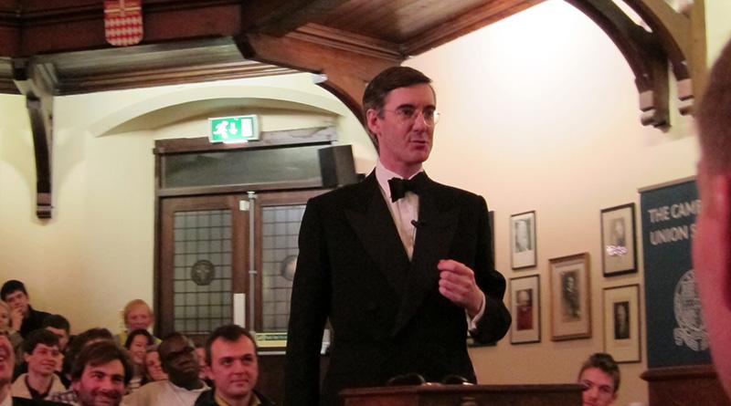 Jacob Rees-Mogg debating at Cambridge Union Society