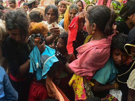 Rohingya auf der Flucht