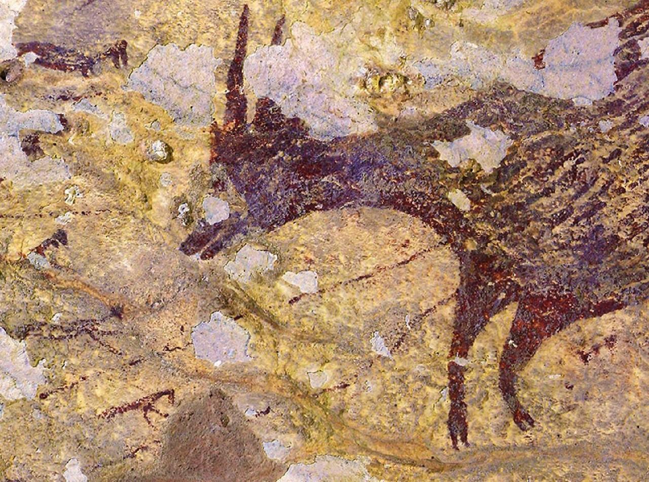 Grotta di pittura a Sulawesi