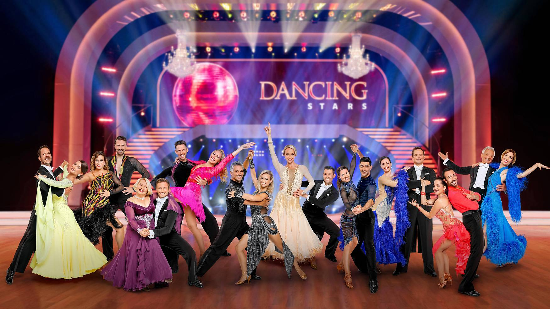 """""""Dancing Stars 2021"""", """"Die Promiriege ist komplett! Start der vierzehnten Staffel am 24. September 2021 live in ORF 1."""" Parkett frei für die """"Dancing Stars""""!"""