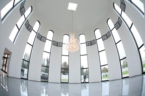 Gebetshalle am islamischen Friedhof Wien