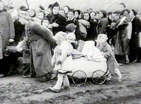 Ankunft deutscher Flüchtlingsfamilien in Berlin nach dem Ende des 2. Weltkrieges.