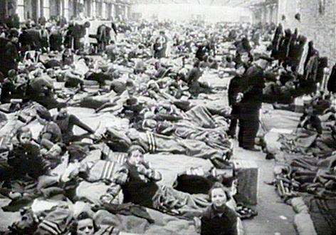 Auffanglager für deutsche Flüchtlinge in Berlin