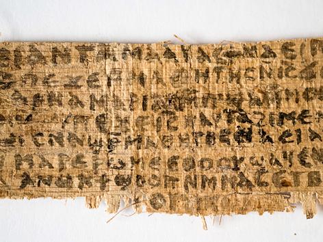 Papyrus in koptischer Sprache