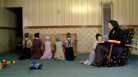 Im Bild: Religionsunterricht im Kindergarten.